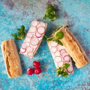 French radish sandwich