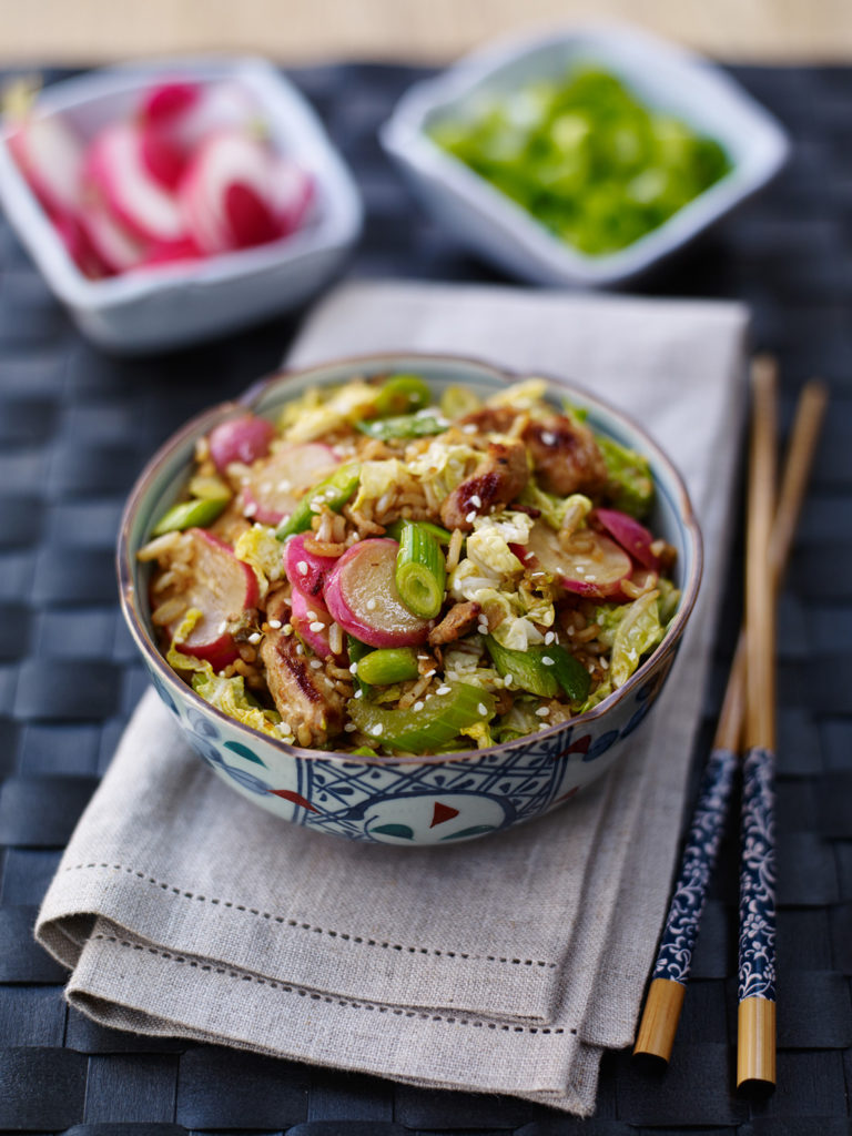 Special Fried Rice with Radish, Celery and Spring Onions