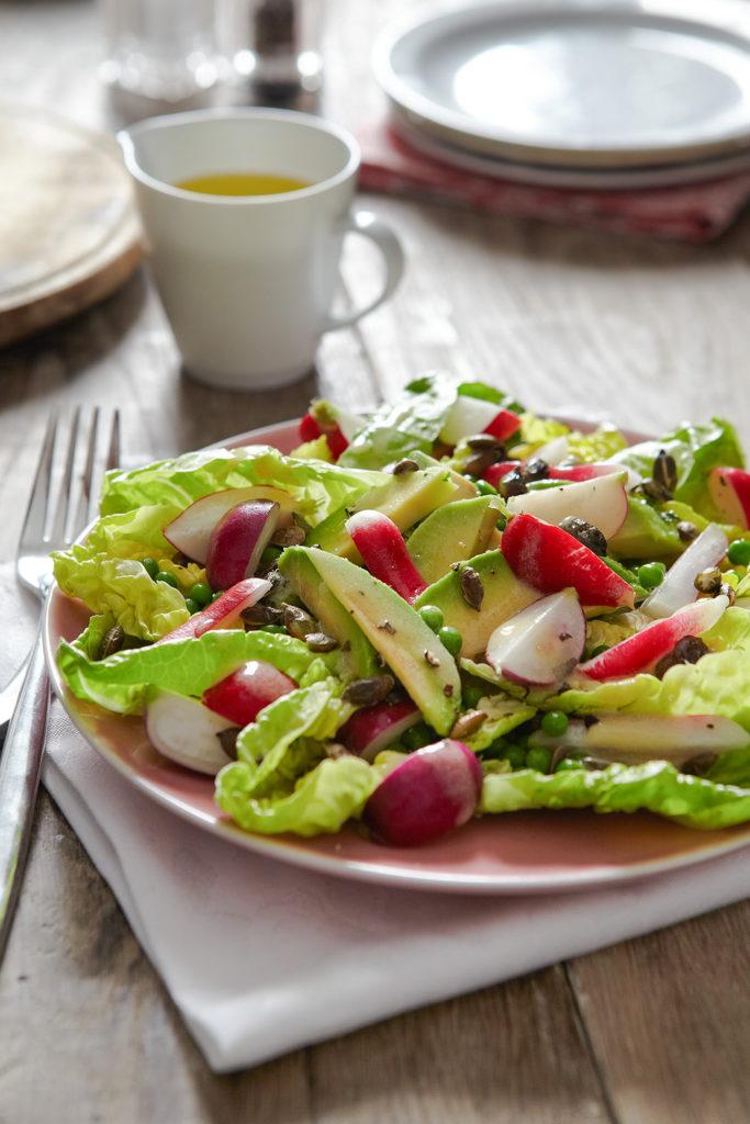 Lowri Turner's radish and avocado salad