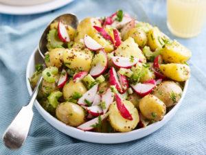 Radish and Celery Potato Salad