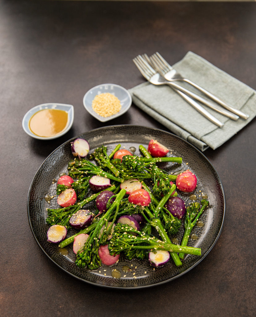 Radish, Tenderstem and Miso Stir Fry