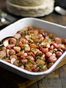 Roasted Radishes with Garlic and Rosemary