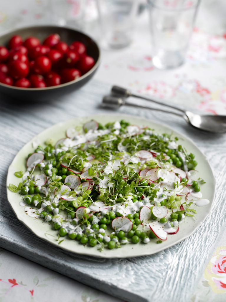 Xanthe Clay's Radish and Pea salad